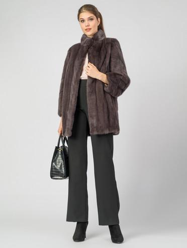 Шуба из норки мех норка, цвет коричневый, арт. 07007464  - цена 89990 руб.  - магазин TOTOGROUP