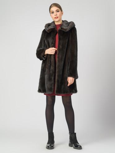 Шуба из норки мех норка, цвет коричневый, арт. 07007466  - цена 112990 руб.  - магазин TOTOGROUP