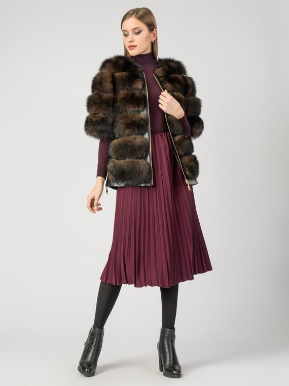 Шуба  мех песец, цвет коричневый, арт. 07007611  - цена 23990 руб.  - магазин TOTOGROUP