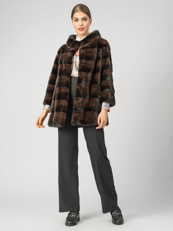 Шуба из норки мех норка, цвет коричневый, арт. 07007614  - цена 42490 руб.  - магазин TOTOGROUP
