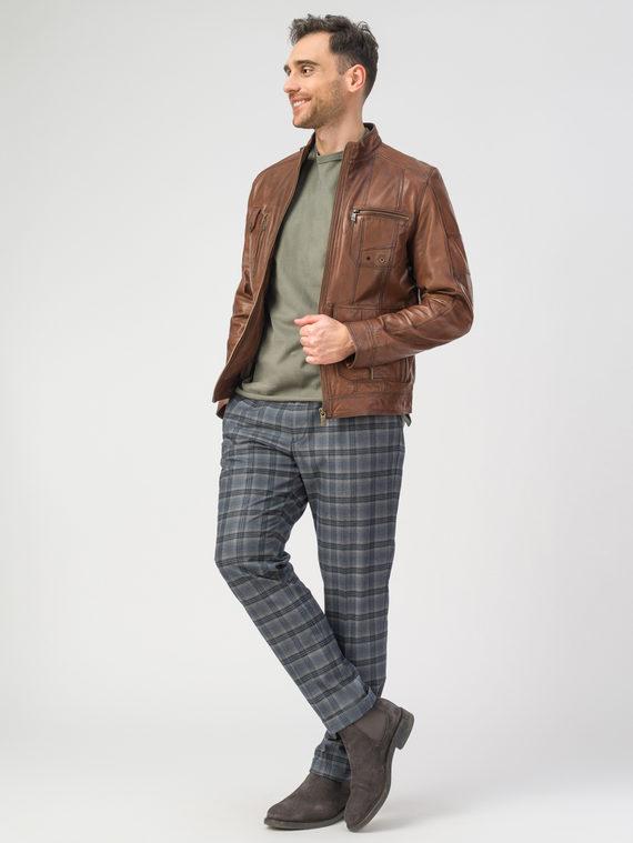 Кожаная куртка кожа , цвет коричневый, арт. 07106156  - цена 13390 руб.  - магазин TOTOGROUP