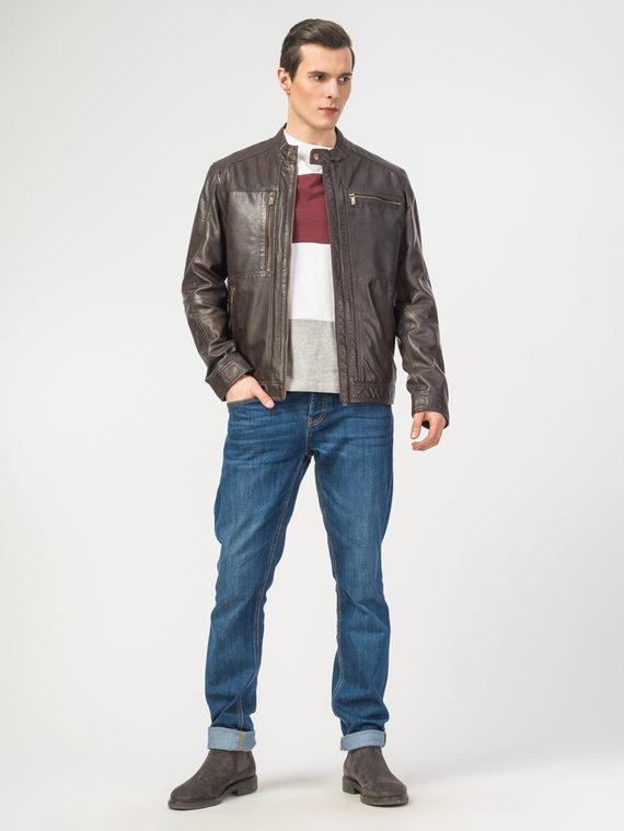 Кожаная куртка кожа , цвет коричневый, арт. 07106164  - цена 11990 руб.  - магазин TOTOGROUP