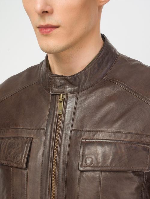 Кожаная куртка артикул 07106166/56 - фото 4