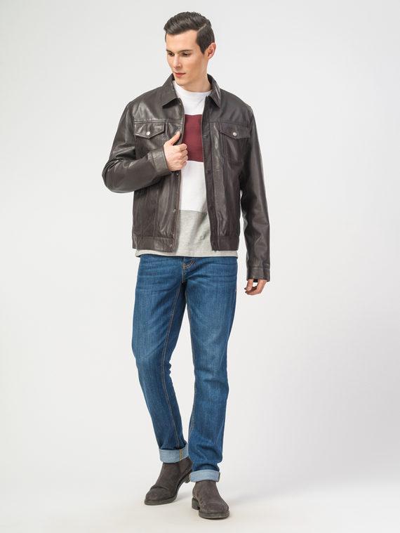 Кожаная куртка кожа , цвет коричневый, арт. 07106180  - цена 11290 руб.  - магазин TOTOGROUP