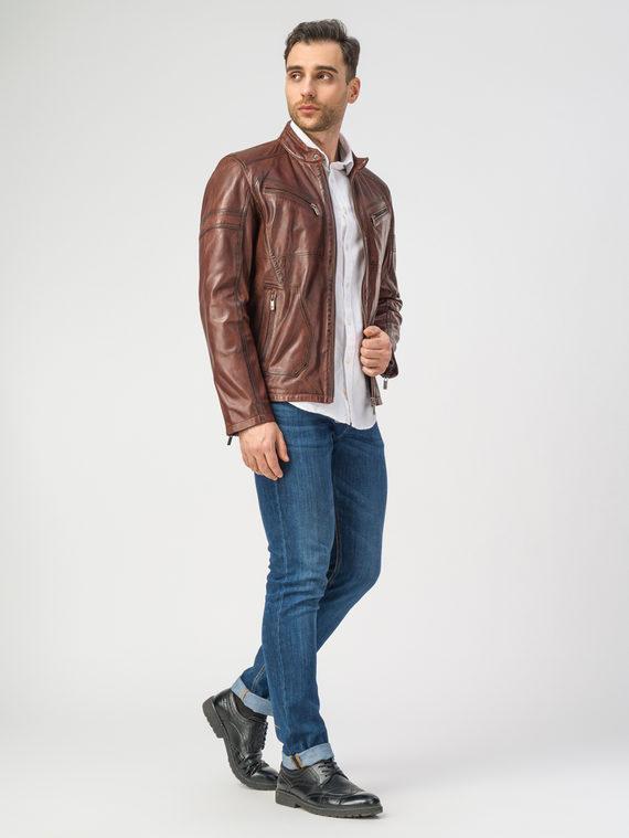 Кожаная куртка кожа , цвет коричневый, арт. 07106194  - цена 11990 руб.  - магазин TOTOGROUP