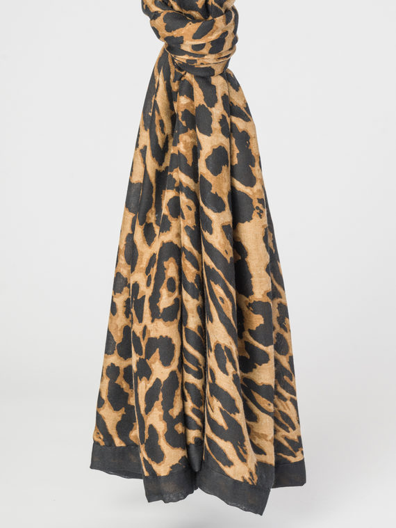Шарф 100% полиэстер, цвет коричневый, арт. 07107789  - цена 990 руб.  - магазин TOTOGROUP