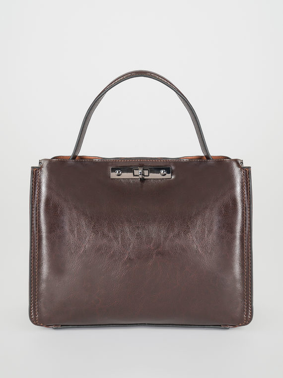 Сумка кожа теленок, цвет темно-коричневый, арт. 07107840  - цена 3590 руб.  - магазин TOTOGROUP