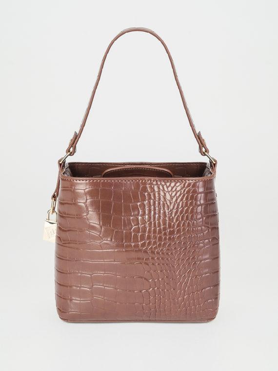 Сумка эко-кожа 100% П/А, цвет коричневый, арт. 07107845  - цена 1490 руб.  - магазин TOTOGROUP