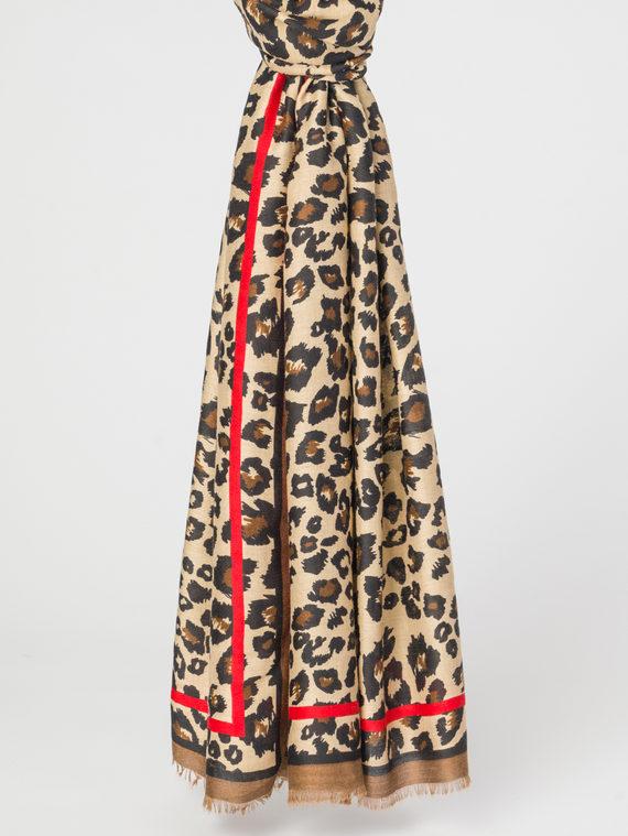 Шарф 100% полиэстер, цвет коричневый, арт. 07108306  - цена 890 руб.  - магазин TOTOGROUP