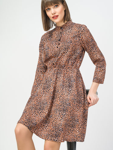 Платье 100% вискоза, цвет коричневый, арт. 07108349  - цена 1130 руб.  - магазин TOTOGROUP