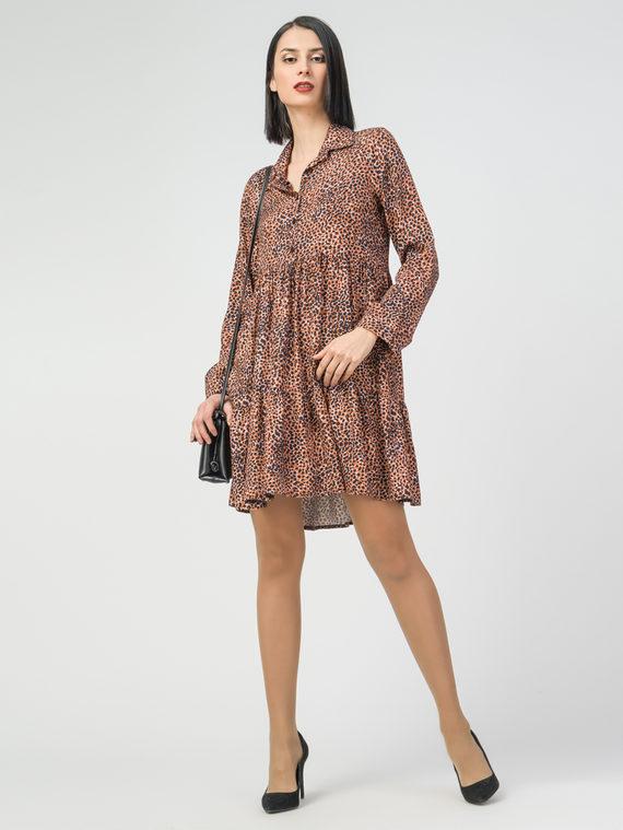 Платье 100% вискоза, цвет коричневый, арт. 07108355  - цена 3590 руб.  - магазин TOTOGROUP