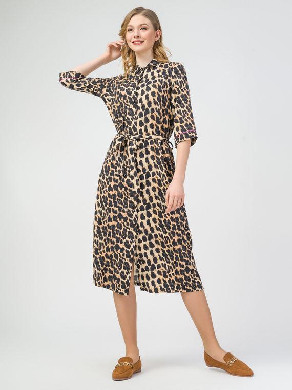 Платье 100% вискоза, цвет коричневый, арт. 07108358  - цена 3790 руб.  - магазин TOTOGROUP