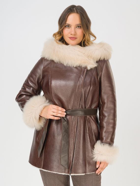 Дубленка дуб. овчина, цвет коричневый, арт. 07108473  - цена 21290 руб.  - магазин TOTOGROUP