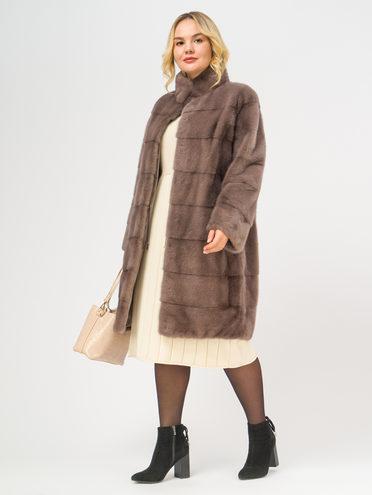 Шуба из норки мех норка, цвет коричневый, арт. 07108830  - цена 84990 руб.  - магазин TOTOGROUP