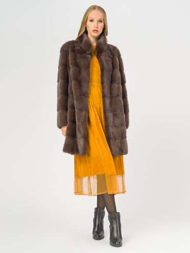 Шуба мех норка крашен., цвет коричневый, арт. 07108831  - цена 49990 руб.  - магазин TOTOGROUP