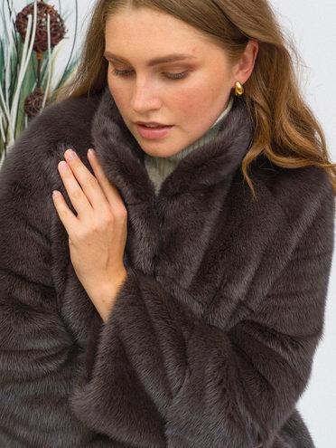 Шуба из норки мех норка, цвет коричневый, арт. 07108832  - цена 84990 руб.  - магазин TOTOGROUP