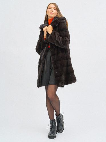 Шуба из норки мех норка, цвет коричневый, арт. 07108856  - цена 84990 руб.  - магазин TOTOGROUP