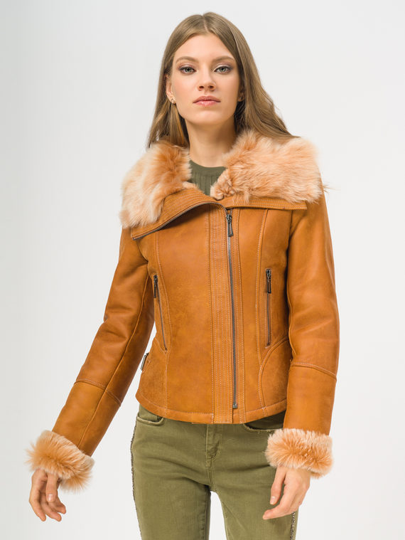 Дубленка дуб. овчина, цвет коричневый, арт. 07108898  - цена 22690 руб.  - магазин TOTOGROUP