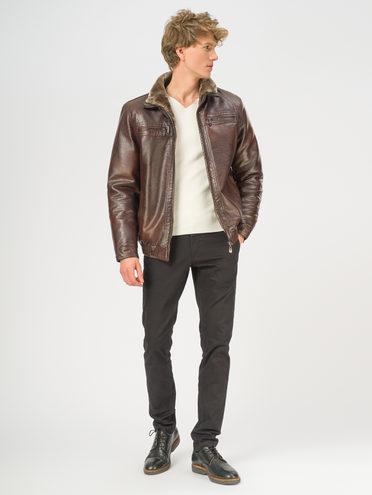 Кожаная куртка эко-кожа 100% П/А, цвет коричневый, арт. 07108922  - цена 4490 руб.  - магазин TOTOGROUP