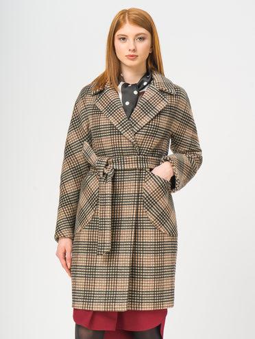 Текстильное пальто 35% шерсть, 65% полиэстер, цвет коричневый, арт. 07109088  - цена 5290 руб.  - магазин TOTOGROUP