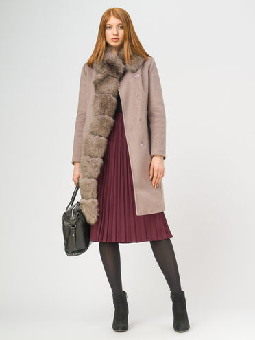 Текстильное пальто 35% шерсть, 65% полиэстер, цвет коричневый, арт. 07109093  - цена 11990 руб.  - магазин TOTOGROUP