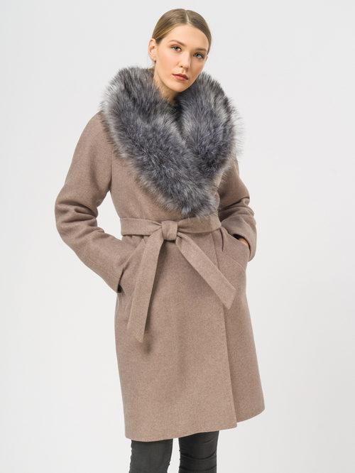 Текстильное пальто артикул 07109094/42 - фото 2