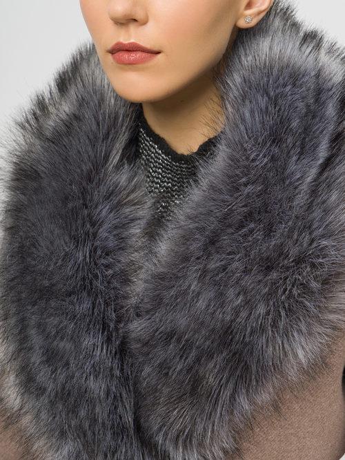 Текстильное пальто артикул 07109094/42 - фото 4