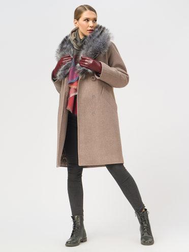 Текстильное пальто 35% шерсть, 65% полиэстер, цвет коричневый, арт. 07109094  - цена 6990 руб.  - магазин TOTOGROUP