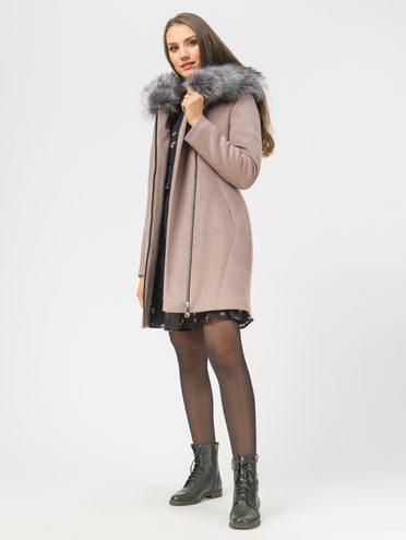 Текстильное пальто 35% шерсть, 65% полиэстер, цвет коричневый, арт. 07109095  - цена 5890 руб.  - магазин TOTOGROUP
