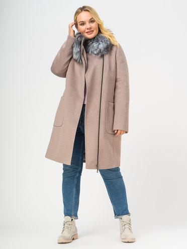 Текстильное пальто 35% шерсть, 65% полиэстер, цвет коричневый, арт. 07109098  - цена 6990 руб.  - магазин TOTOGROUP