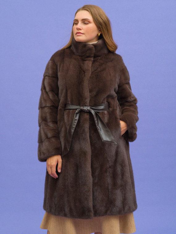 Шуба из норки мех норка, цвет коричневый, арт. 07109110  - цена 79990 руб.  - магазин TOTOGROUP