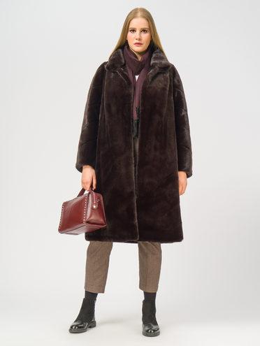 Шуба из эко-меха эко мех 100% П/Э, цвет коричневый, арт. 07109122  - цена 9990 руб.  - магазин TOTOGROUP
