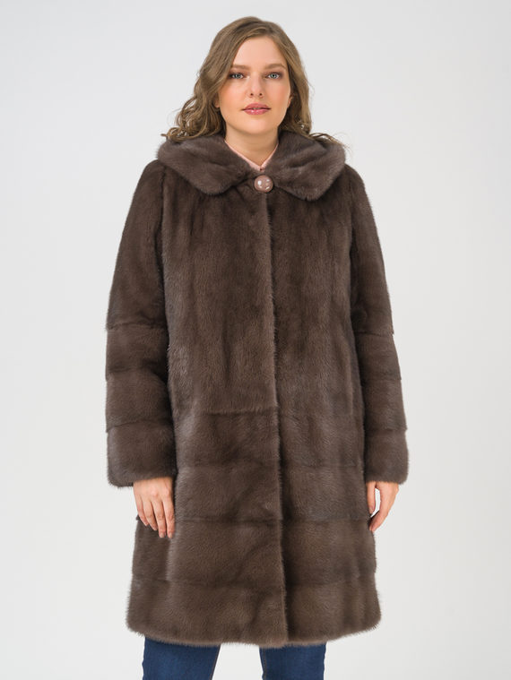 Шуба мех норка крашен., цвет коричневый, арт. 07109125  - цена 89990 руб.  - магазин TOTOGROUP