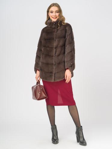 Шуба мех норка крашен., цвет коричневый, арт. 07109171  - цена 59990 руб.  - магазин TOTOGROUP