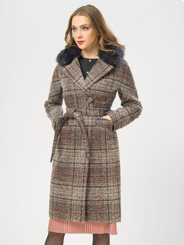 Текстильное пальто 35% шерсть, 65% полиэстер, цвет коричневый, арт. 07109207  - цена 6290 руб.  - магазин TOTOGROUP