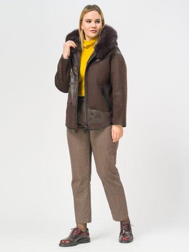Дубленка эко-замша 100% П/А, цвет коричневый, арт. 07109340  - цена 16990 руб.  - магазин TOTOGROUP