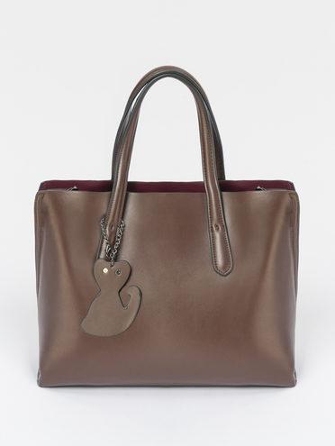 Сумка кожа теленок, цвет коричневый, арт. 07109491  - цена 7490 руб.  - магазин TOTOGROUP