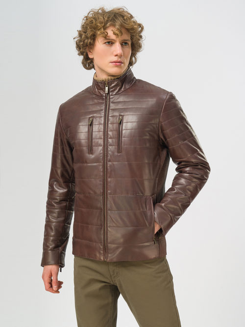 Кожаная куртка артикул 07109537/46 - фото 2