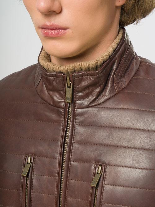 Кожаная куртка артикул 07109537/46 - фото 4