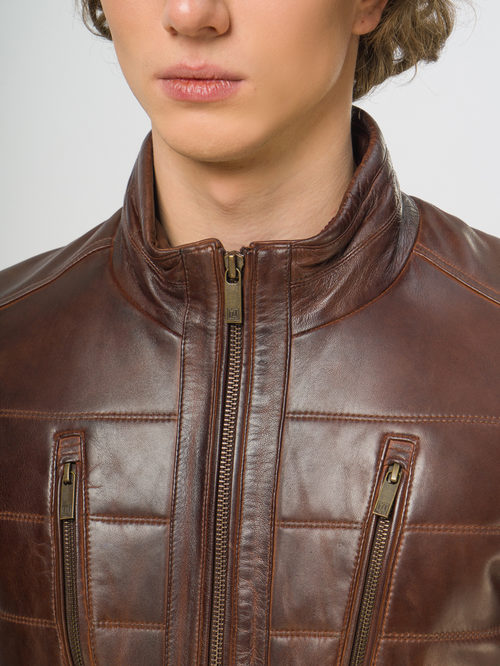 Кожаная куртка артикул 07109540/48 - фото 4