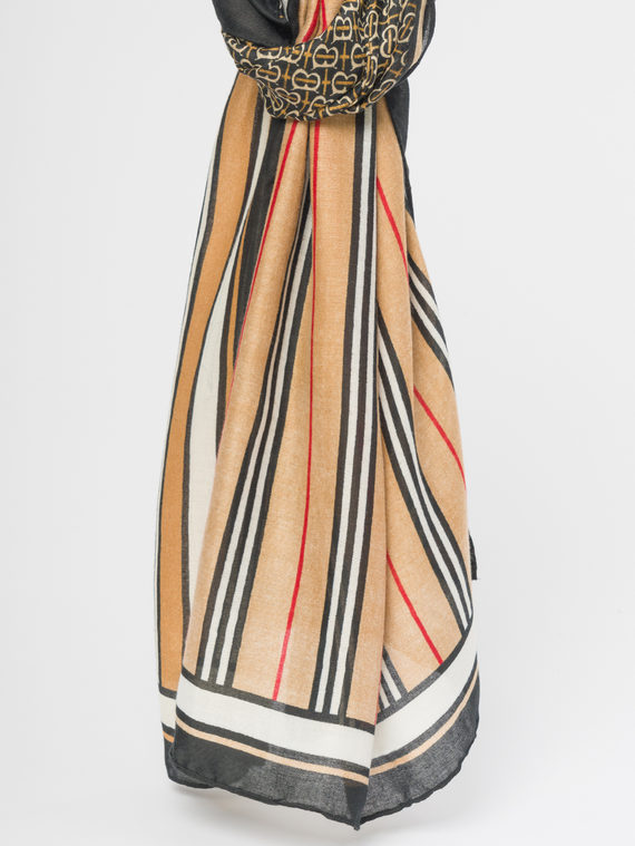 Шарф 50%хлопок, 50%полиэстер, цвет коричневый, арт. 07109682  - цена 890 руб.  - магазин TOTOGROUP