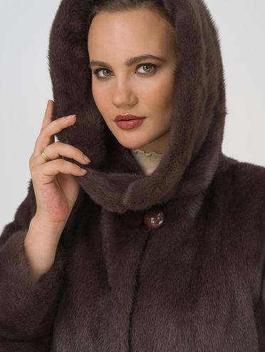 Шуба из норки мех норка крашен., цвет коричневый, арт. 07109739  - цена 99990 руб.  - магазин TOTOGROUP