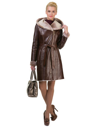 Дубленка дуб. овчина, цвет коричневый, арт. 07602822  - цена 25788 руб.  - магазин TOTOGROUP