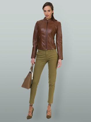 Кожаная куртка кожа овца, цвет коричневый, арт. 07700022  - цена 11990 руб.  - магазин TOTOGROUP