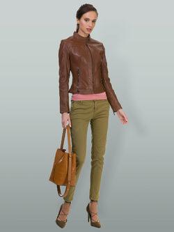 Кожаная куртка кожа овца, цвет коричневый, арт. 07700025  - цена 11990 руб.  - магазин TOTOGROUP