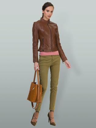 Кожаная куртка кожа овца, цвет коричневый, арт. 07700025  - цена 9592 руб.  - магазин TOTOGROUP