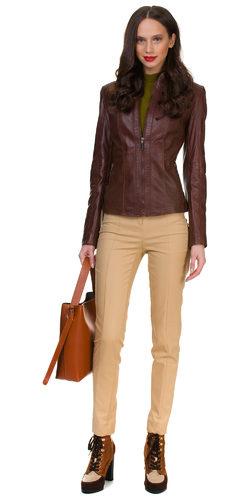 Кожаная куртка кожа овца, цвет коричневый, арт. 07700051  - цена 13990 руб.  - магазин TOTOGROUP