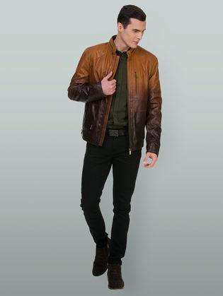 Кожаная куртка кожа овца, цвет коричневый, арт. 07700058  - цена 14990 руб.  - магазин TOTOGROUP