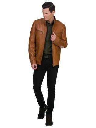 Кожаная куртка кожа овца, цвет коричневый, арт. 07700066  - цена 14990 руб.  - магазин TOTOGROUP