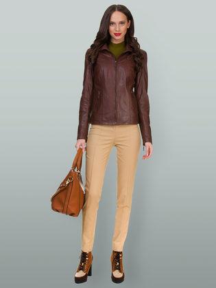 Кожаная куртка кожа овца, цвет коричневый, арт. 07700102  - цена 13390 руб.  - магазин TOTOGROUP